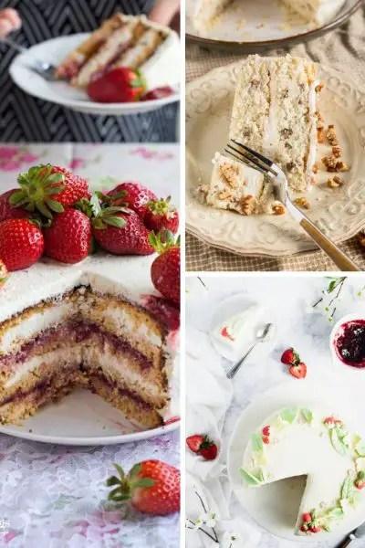 peanut butter cake, butter pecan cake and Norwegian cake