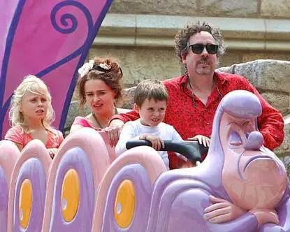 Tim Burton & family visit Disneyland
