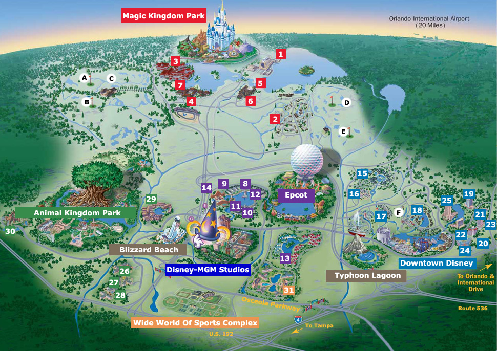 Get your WDW Park Maps Here