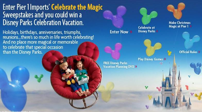 Pier 1 Imports Celebrate the Magic Sweepstakes