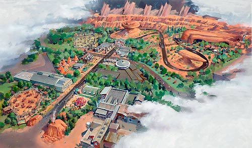 Secret 2012 Disneyland Carsland Blueprint & Video