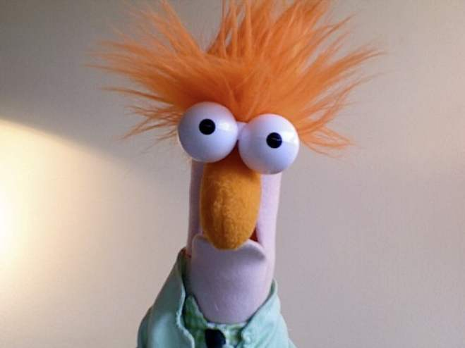 The Muppet's Beaker sings Yellow by Coldplay