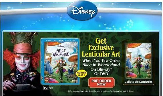 Walmart to offer Free Alice in Wonderland Art when you Pre-order