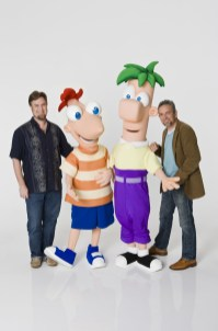 """DAN POVENMIRE (CREATOR AND EXECUTIVE PRODUCER, """"PHINEAS AND FERB""""), PHINEAS, FERB, JEFF """"SWAMPY"""" MARSH (CREATOR AND EXECUTIVE PRODUCER, """"PHINEAS AND FERB"""")"""