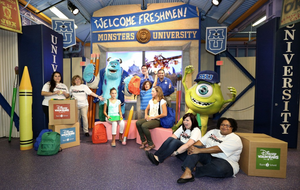 """Disney Voluntears Deliver """"Monstrous"""" Back to School Supplies for Central Florida Students"""