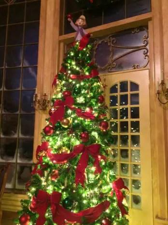 New Fantasyland Decorated for Christmas at The Magic Kingdom