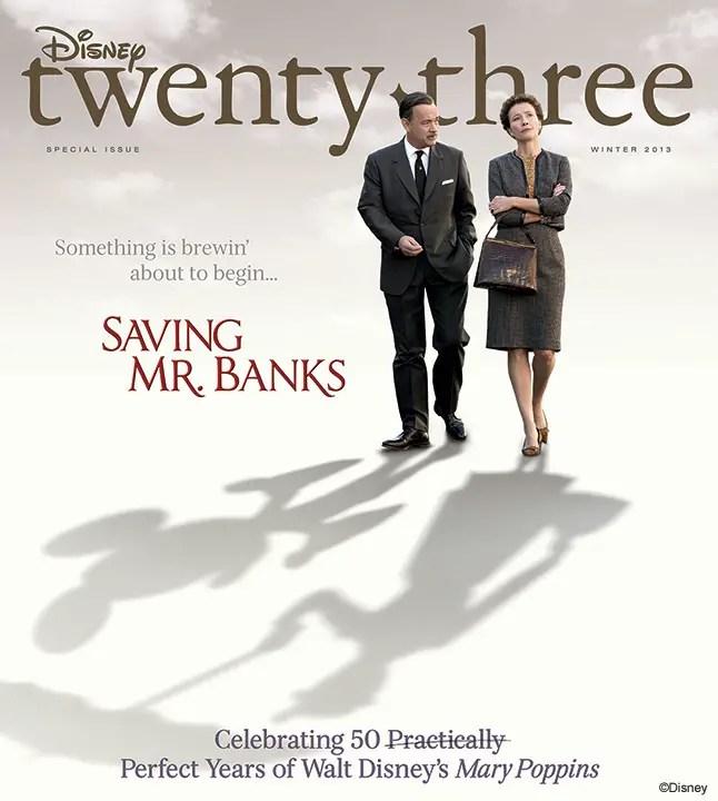 Disney Twenty-Three Magazine Celebrates Saving Mr. Banks