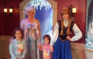Meeting the Frozen Princesses at Disneyland