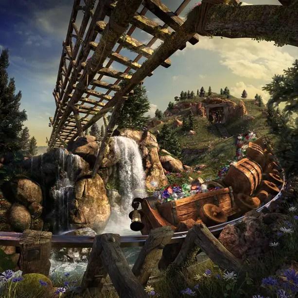 Take a Virtual ride on the Seven Dwarfs Mine Train at Walt Disney World