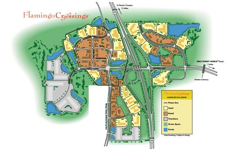 Flamingo Crossings near Walt Disney World is Getting a New Third Hotel