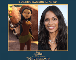Rosario Dawson lends her voice in Tinkerbell and the Legend of the NeverBeast