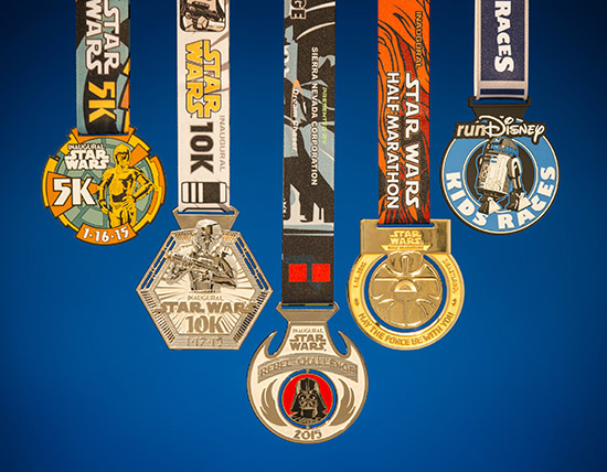 Do or do not, there is no try – runDisney Star Wars medals sneak peek