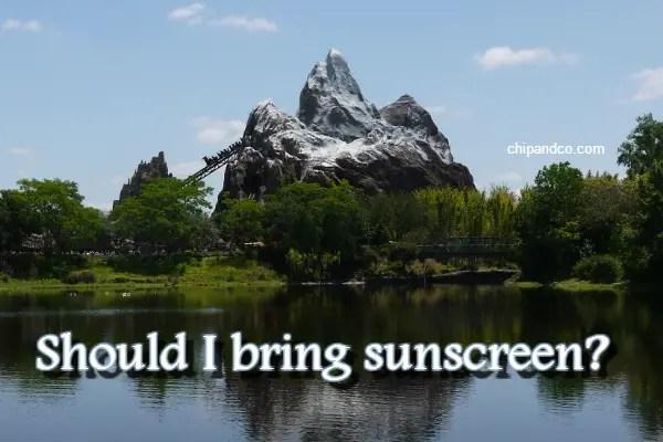 Disney Quick Tip- Should I Bring Sunscreen?