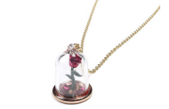 Disney Finds - Disney Beauty And The Beast Rose Glass Pendant