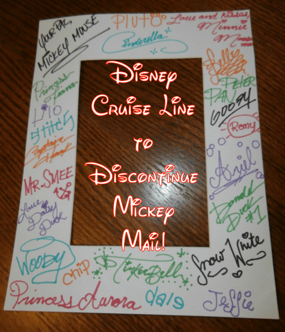 Disney Cruise Line To Discontinue Mickey Mail Character Autograph Service Soon