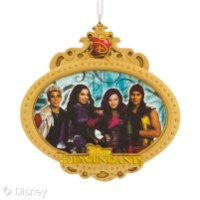 Hallmark Holiday Ornament: Disney's Descendants Licensee: Hallmark MSRP: $7.99 Retailers: Walmart Available: August 2015 Cast a holiday spell with this ornament featuring your favorite Descendants characters!