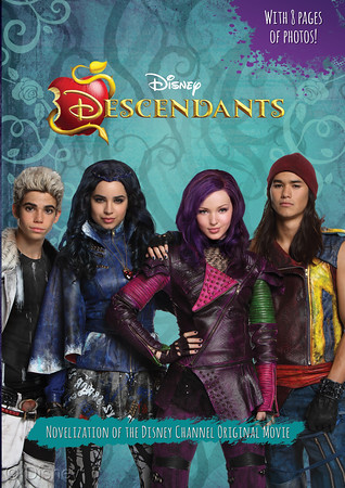 """Descendants: Junior Novel MSRP: $10.99 Available: Now Mal, Evie, Jay, and Corlos are the offspring of some of the most terrible villains of all time. They're offered a chance to leave the Isle of the Lost, where they have been imprisoned all their lives, and go to prep school in the idyllic kingdom of Auradon with all of the """"good"""" kids. There, they must choose whether or not to follow in their parents' evil footsteps. Watch out Auradon--here come the Descendants!"""