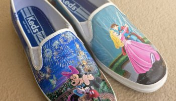 d373bc60e0cde Artistic Hand Painted Custom Disney Shoes