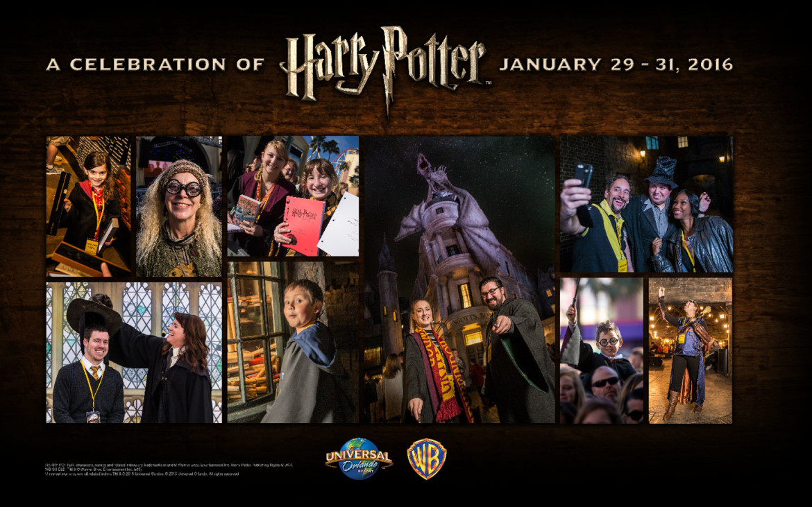 """Universal Orlando-January 29-31, 2016, """"A Celebration of Harry Potter"""" Package On Sale Aug 19th!"""
