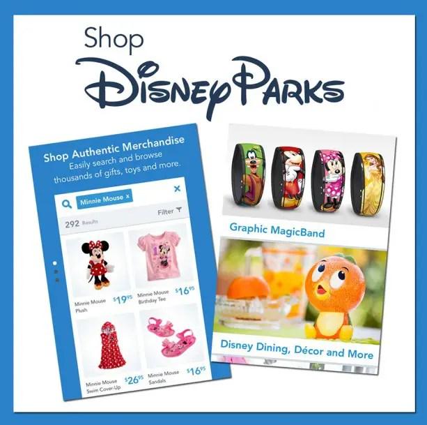New Shop Disney Parks Mobile App allows you to buy Authentic Walt Disney World Resort Merchandise