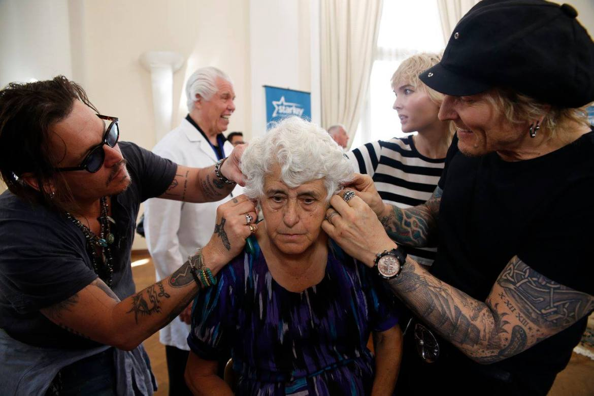 Johnny Depp and Friends Help Give the Gift of Hearing