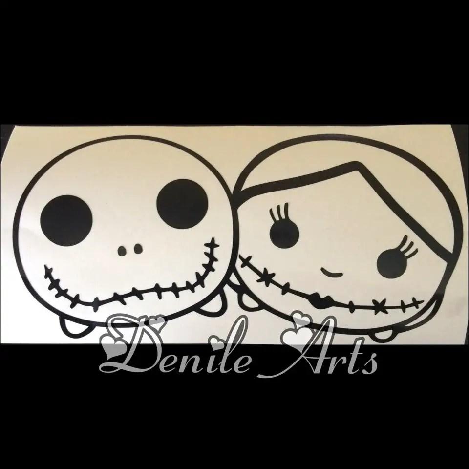 Hauntingly Cute Jack & Sally Tsum Tsum Decal