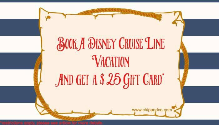 Book Disney Cruise Line in October, Get a $25 Gift Card!!