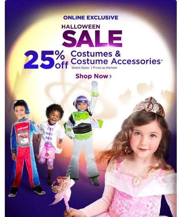 Disney Store Halloween SALE! 25% Off Costumes & Accessories