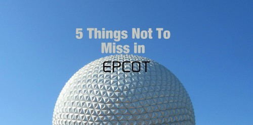 5 Things You Won't Want to Miss in EPCOT