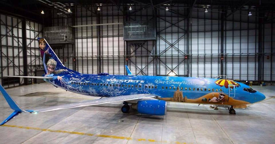"""Would You Fly on a """"Frozen"""" Plane?"""