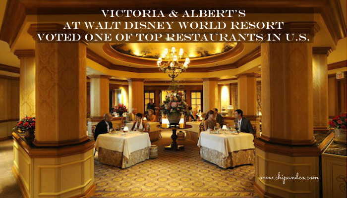 Victoria & Albert's at Walt Disney World Resort Voted One of Top Restaurants in U.S.