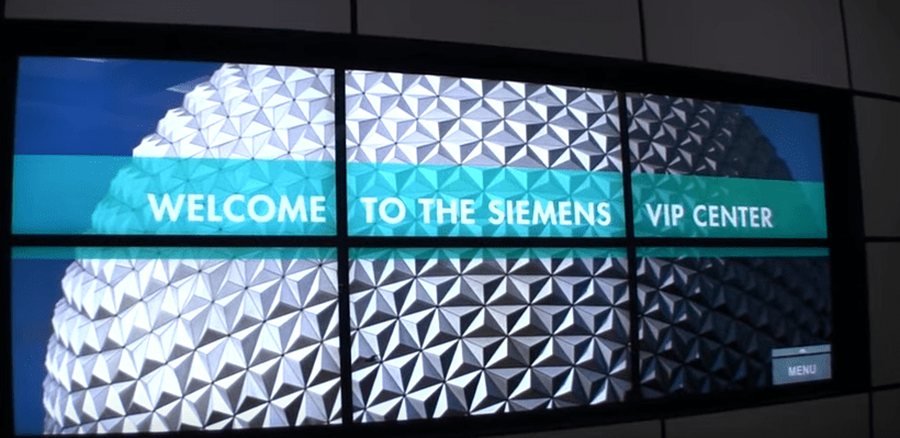 Siemens Epcot VIP Lounge for US Military and Retirees