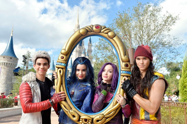 """The Stars of """"Descendants"""" Were at the Magic Kingdom Filming for """"The Disney Parks Unforgettable Christmas Celebration"""""""