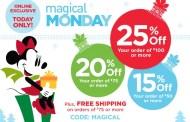 Disney Store's Magical Monday Exclusive Online Sale