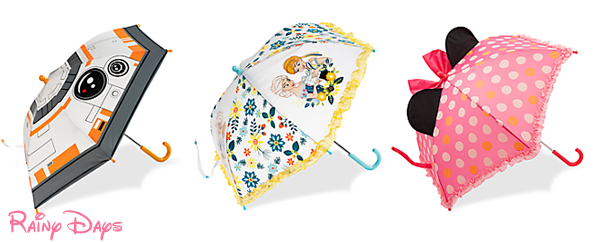 Stay Dry with New Character Umbrellas at The Disney Store
