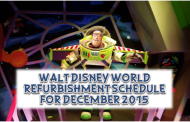 Walt Disney World Refurbishment Schedule for December 2015