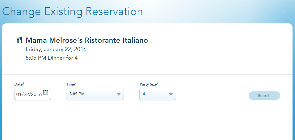 My Disney Experience Offers a New Feature for Dining Reservations!