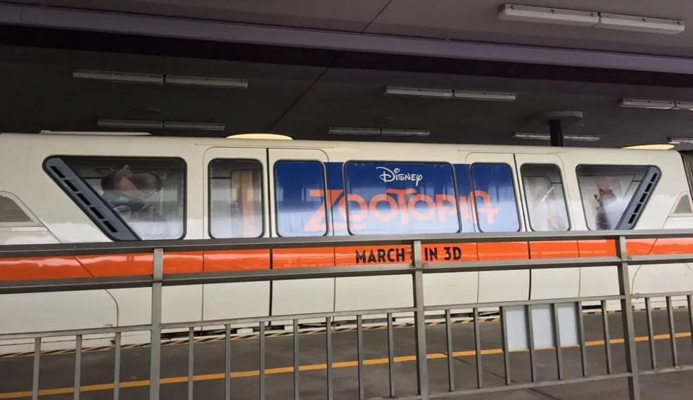 New Zootopia Monorail Wrap shows up at Walt Disney World