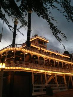 Mark Twain just after sunset
