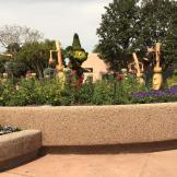 Sorcerer Mickey is hard at work keeping EPCOT nice and tidy!