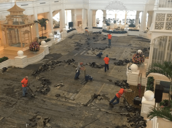 Disney is replacing the carpet at the Grand Floridian Resort