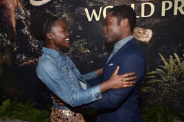 """HOLLYWOOD, CALIFORNIA - APRIL 04: Actors Lupita Nyong'o and David Oyelowo attend The World Premiere of Disney's """"THE JUNGLE BOOK"""" at the El Capitan Theatre on April 4, 2016 in Hollywood, California. (Photo by Alberto E. Rodriguez/Getty Images for Disney) *** Local Caption *** David Oyelowo; Lupita Nyong'o"""