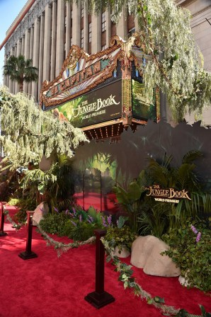 """HOLLYWOOD, CALIFORNIA - APRIL 04: A view of the red carpet for The World Premiere of Disney's """"THE JUNGLE BOOK"""" at the El Capitan Theatre on April 4, 2016 in Hollywood, California. (Photo by Alberto E. Rodriguez/Getty Images for Disney)"""