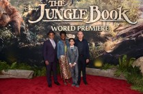"""HOLLYWOOD, CALIFORNIA - APRIL 04: (L-R) Actors Giancarlo Esposito, Lupita Nyong'o, Neel Sethi and Sir Ben Kingsley attend The World Premiere of Disney's """"THE JUNGLE BOOK"""" at the El Capitan Theatre on April 4, 2016 in Hollywood, California. (Photo by Alberto E. Rodriguez/Getty Images for Disney) *** Local Caption *** Giancarlo Esposito; Lupita Nyong'o; Neel Sethi; Ben Kingsley"""