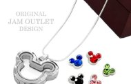 Mickey Mouse Living Locket Floating Crystal Charms & Necklace
