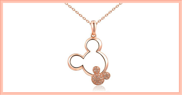 Disney Find- Gorgeous Rose Gold Twin Mickey Necklace