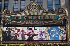 HOLLYWOOD, CA - MAY 23: A view of the atmosphere at Disney's 'Alice Through the Looking Glass' premiere with the cast of the film, which included Johnny Depp, Anne Hathaway, Mia Wasikowska and Sacha Baron Cohen at the El Capitan Theatre on May 23, 2016 in Hollywood, California. (Photo by Alberto E. Rodriguez/Getty Images for Disney)