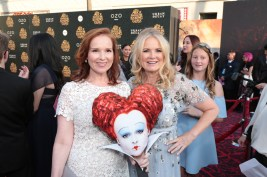 """Jennifer Todd and Suzanne Todd pose together at The US Premiere of Disney's """"Alice Through the Looking Glass"""" at the El Capitan Theater in Los Angeles, CA on Monday, May 23, 2016. .(Photo: Alex J. Berliner/ABImages)"""
