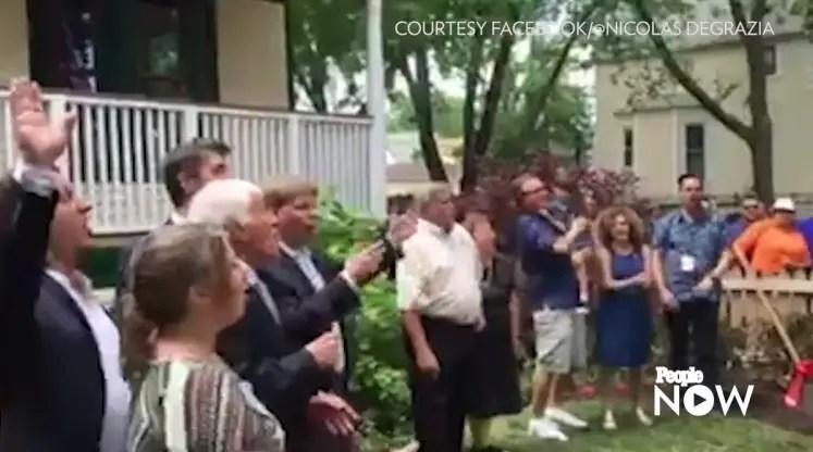 Dick Van Dyke Leads Fan Sing-Along at Disney's Birthplace