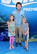 HOLLYWOOD, CA - JUNE 08: Actor Jon Heder (C) and guests attend The World Premiere of Disney-Pixar's FINDING DORY on Wednesday, June 8, 2016 in Hollywood, California. (Photo by Alberto E. Rodriguez/Getty Images for Disney) *** Local Caption *** Jon Heder